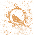Design with nest and bird vector image vector image