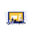 digital classroom virtual learning education vector image vector image