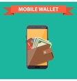 digital mobile wallet vector image vector image