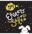 Easter sale label design template with vector image vector image