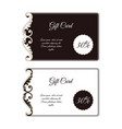 elegant gift card with an uneven edge with leafy vector image vector image
