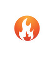 fire flame icon design vector image vector image
