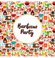 flat barbecue party greeting vector image vector image