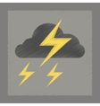 flat shading style icon lightning cloud vector image vector image