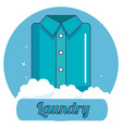 folded clothes laundry service vector image
