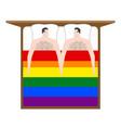 gays in bed lovers men are in under blanket love vector image
