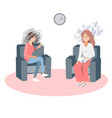 gestalt psychotherapy session vector image