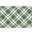 green white pink diagonal tartan plaid seamless vector image vector image