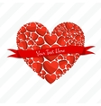 Greeting Card of Red Hearts vector image vector image