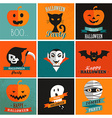 halloween cute set icons vector image