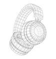 headphones concept outline vector image