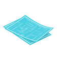 isometric blueprints vector image