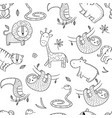 jungle pattern african wild animals vector image vector image