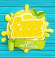 Lemonade label splash vector image