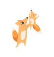 loving mother fox holding baby in her arms happy vector image vector image