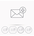 Mail inbox icon Email message sign vector image
