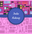 makeup and skincare background vector image vector image