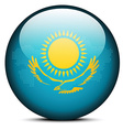 Map with Dot Pattern on flag button of Kazakhstan vector image vector image