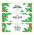 Merry Christmas banners set art vector image vector image