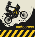 Motocross background vector image vector image