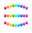 multicolored balls three rows set vector image