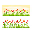 nature banner isolated set vector image vector image