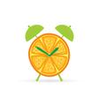 orange fruit clock color vector image vector image