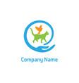 pets care logo vector image vector image