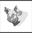 pig pig head black and vector image vector image