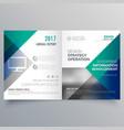 professional blue bi fold brochure template design vector image vector image