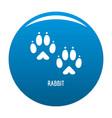 rabbit step icon blue vector image