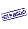scratched textured made in australia stamp seal vector image vector image