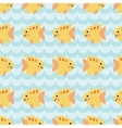 seamless pattern with flock cute cartoon vector image vector image