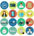 set flat color icons concept for delivery vector image