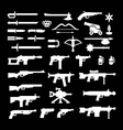 set icons weapons vector image