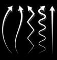 set of 5 different long vertical arrow elements