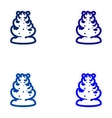 Set of paper stickers on white background snow vector image vector image