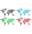 set of world maps vector image vector image