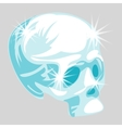 shining crystal skull in cartoon style vector image vector image