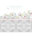 spring blossom flowers and lace wedding invitation vector image vector image