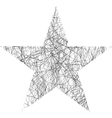 Star Scribble vector image vector image