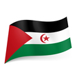 State flag of Sahrawi Arab Democratic Republic vector image vector image