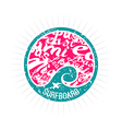Surf wave emblem in retro style vector image vector image