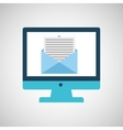 technology monitor icon email message isolated vector image