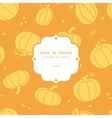 Thanksgiving golden pumpkins frame seamless vector image vector image
