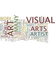 the basis of visual arts text background word vector image vector image