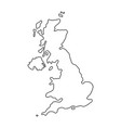 the united kingdom of black contour vector image vector image