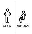 toilet sign in pure funny style vector image