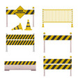 under construction barrier vector image vector image