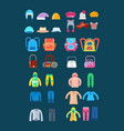 various women and men clothes for children vector image